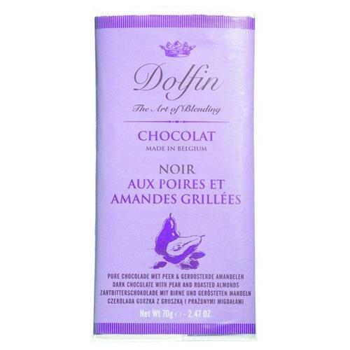 Dolfin Zartbitterschokolade / mit Birne und gerösteten Mandeln
