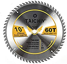 "TAICHIV 10inch 60Tooth ATB Carbide Framing and Ultra-coated Saw Blades with 5/8"".."
