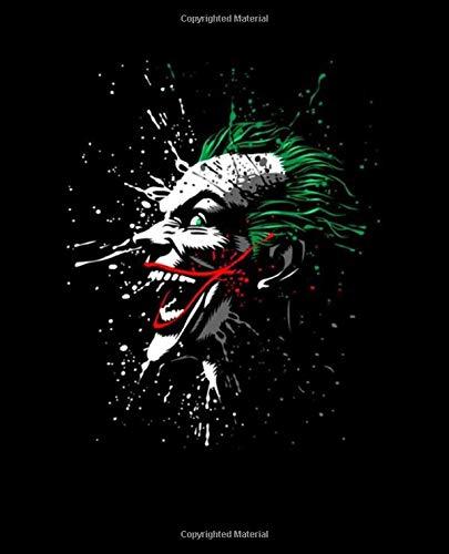Journal: Bat Man Joker Harley Quinn Comics Art Smile Face Glossy Cover...