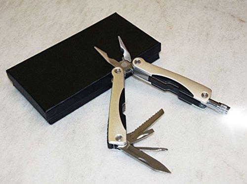 Taschenmesser mit Taschenlampe und Zange Multitool Multifunktionsmesser (Taschenwerkzeug mit Licht, Säge, Faltbar, Schraubendreher)