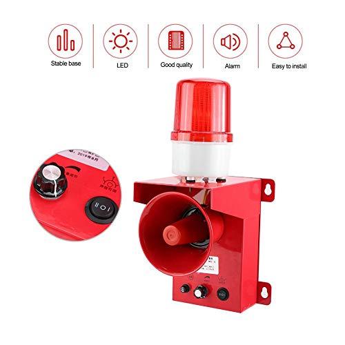 Draadloze strobe sirene, AC 110 / 220V waterdicht IP65 geluid en licht strobe gesproken alarm sirene alarmsysteem, draadloos alarmsysteem voor buiten (AC110V)