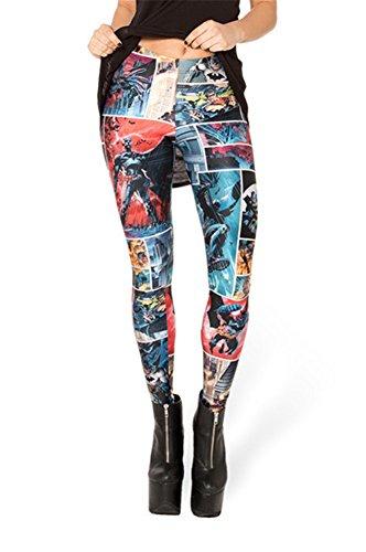 Zanuce Women's 2015 NEW Anime Print Pattern Tight Stretch Leggings Batman Comic 823 One Size
