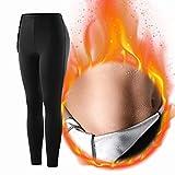 Pantalones de adelgazamiento Pantalones de sauna, Pantalones deportivos Mujer Pantalones adelgazantes para mujer Mallas para correr Mujeres Sauna de sudor de neopreno térmico caliente, Pantalon (M)