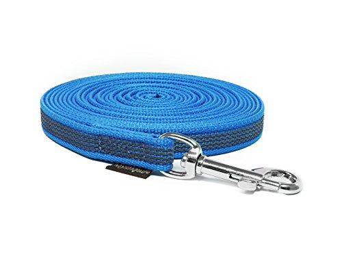 Mystique® Gummierte Schleppleine 12mm ohne Handschlaufe Standard Karabiner blau 5m