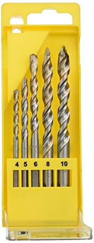 DeWALT DT6956-QZ - Juego de 5 Brocas para Piedra Extreme con Vástago de 3 Caras en Cassette de Plástico Diámetro 4, 5, 6, 8, 10 mm