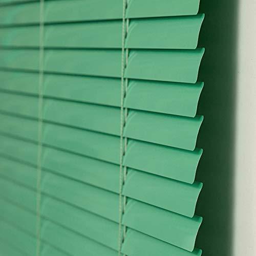 JLXJ Veneziana Tende Veneziane Oscuranti, Spessore 0,18 Mm Verde Alluminio Stecche Tende a Rullo con Cavo di Trazione e Asta Rotante, per L'Ufficio Domestico, 85cm/105cm/125cm/145cm di Larghezza
