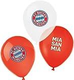 amscan 9906514 - FC Bayern München Latex-Luftballons, 6 Stück, Größe 27,5 cm / 11', Farbe: Blau, Weiß u. Rot, mit Luft / Helium befüllbar, Partydeko für die Feier beim Fanclub oder die Fußballparty