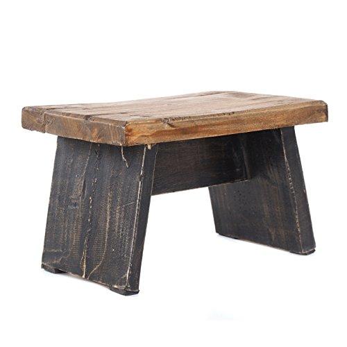 DESIGN DELIGHTS Repose-pieds en bois massif recyclé 18,5 x 29 x 19,5 cm (h x l x p) Style shabby chic