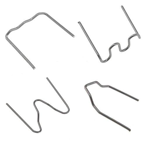 400tlg Pack 0.8mm 0.6mm Hot Staples Edelstahl Klammern Schweißen für Auto Reparatur Kunststoffschweißen Reparieren