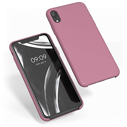 kwmobile TPU Silicone Case Compatible with Apple iPhone XR - Slim Protective Phone Cover with Soft Finish - Deep Rusty Rose