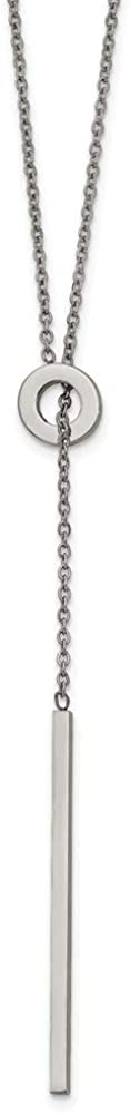 Ryan Jonathan Fine Jewelry Stainless Steel Adjustable Y Necklace, 16.5