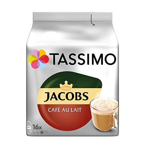 Tassimo Kapseln Jacobs Café au Lait, Kaffeekapseln für 5 x 16 Getränke