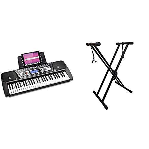 RockJam 54-Key Portable Keyboard with Rockjam Xfinity Heavy Duty Piano Stand