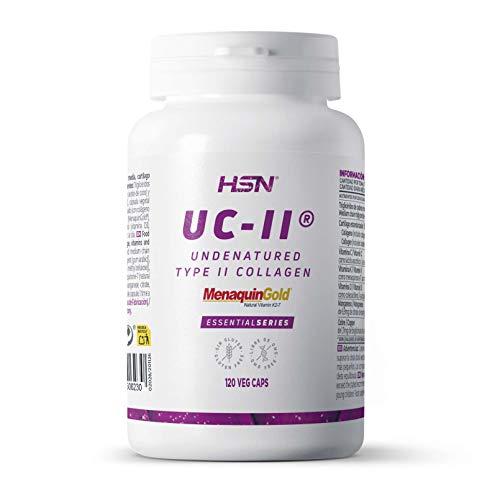 UC-II Colágeno Tipo 2 No Desnaturalizado de HSN | 40 mg | Mantén tu Salud Articular | Con Vitamina D3 + K2 + C + Manganeso y Cobre | Sin Gluten, Sin Lactosa | 120 Cápsulas Vegetales