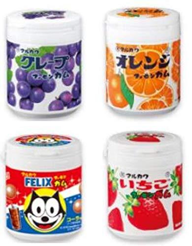 マーブルガムボトル 130g 4点セット(グレープ・オレンジ・いちご・コーラ) 丸川製菓