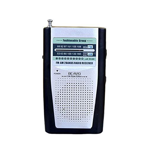 Lsmaa Radio telescópica de bolsillo, con altavoces integrados y un conector para auriculares, es un mini ligero y sólido que viene en un bolsillo o es impresionante para juegos de béisbol de noticias