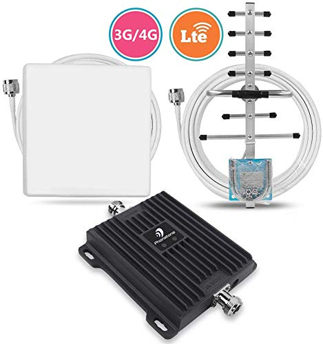 Phonetone Cell Phone Signal Booster Dual Band Amplifier for Home and Office Boost 3G 4G Band 5 Band 4 LTE Kit Mobile Signal Repeater 850MHz 1700MHz 65dB