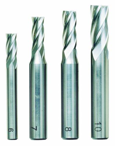 Proxxon 24620 4 piece milling cutter set (6, 7, 8 and 10 mm), Silver