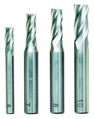 Proxxon Schaftfräsersatz, 4-tlg., DIN 844, HSS, 24620
