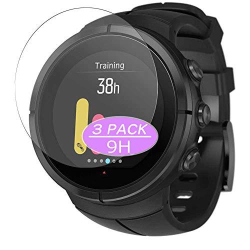 Vaxson - Pellicola protettiva in vetro temperato 9H, compatibile con Suunto Spartan Ultra Smartwatch Hybrid Watch, 3 pezzi