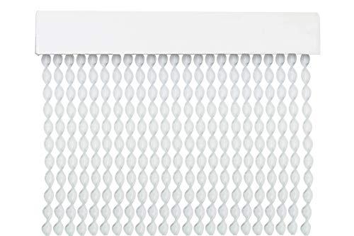 MERCURY TEXTIL Cortina para Puerta Tiras PVC 200x90cm,Cortina para Puerta Exterior,10 Color (Transparente)