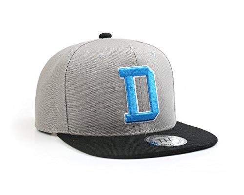 True Heads Casquette de baseball grise avec inscription « D »