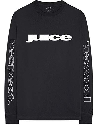 Tupac 'Juice Respect Power' (Black) Long Sleeve Shirt (medium)
