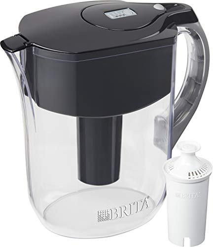Brita Water Pitcher with 1 Filter, Large 10 Cup, Black