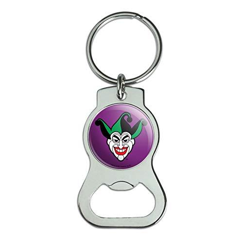 Graphics and More Batman Joker Symbol Keychain with Bottle Cap Opener
