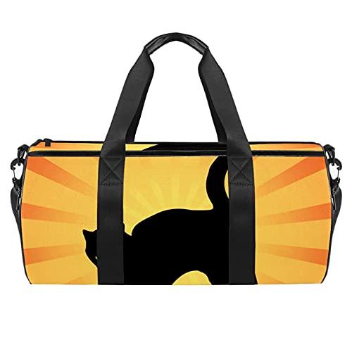 Bolsa de gimnasio amarilla para hombres y mujeres bolsas de fin de semana, bolsa de viaje con bolsillo impermeable