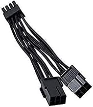GutsParker Dual 6-Pin Female to 8-Pin Male Cable Black