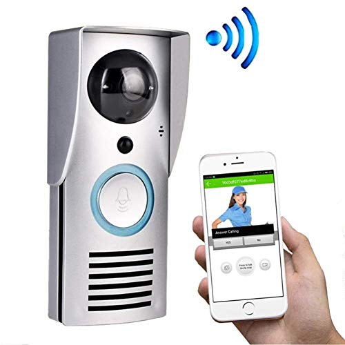 LQUIDE Drahtlose Video-Türklingel, Smart WiFi, Telefon-Intercom-Fernüberwachungsalarm entsperren, wasserdichtes Design von Shell IP55, Android oder IOS-Handy-Tablet