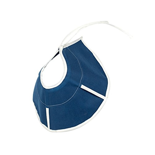 JEELINBORE Schutzkragen für Haustiere Leicht Stoff Tierhalskrause Halskrause für Welpen, kleine Hunde und Katzen (Blau, Durchmesser: 26.3cm)