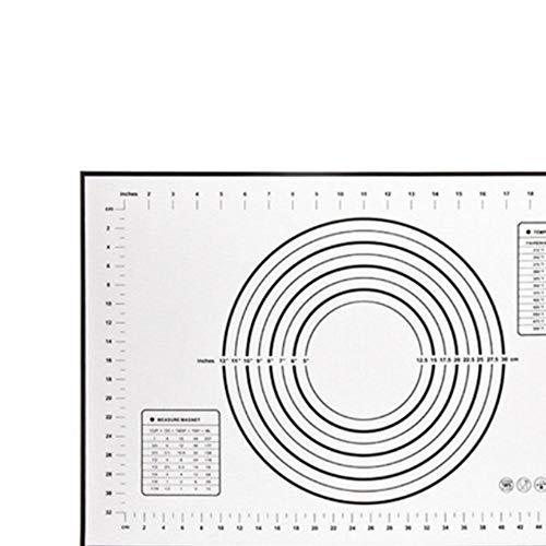 LLAAIT Tapis de Cuisson en Silicone antiadhésif Pliable 40 * 60 cm, pâte à pétrir, Plateau de Cuisson, revêtement intérieur, Cuisine, Outils de Cuisson, Rouleau à pâtisserie, Noir, États-Unis