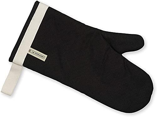 Le Creuset Gant de Four à Manche Extra Longue, Taille Unique, Noir, en Coton