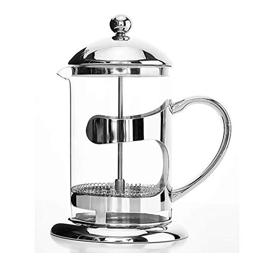 New XXDMZ French Press Coffee Maker -Multifunctional French Press Teapot 304 Stainless Steel Glass Coffee-Air-Press Scented Tea Milk Frother Cappuccino Moka Pot Cafe, 800ML