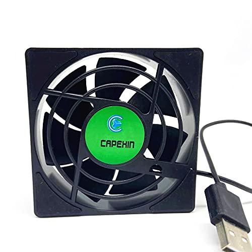 Cmstop Mini Ventilador USB Power Radiator Mute Portable TV Box Cooling 2500RPM Airflow Fan Cooling para Router TV Box Micro Computer