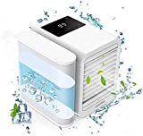 Personal Air Conditioner Air Cooler Fan, 3 in 1 USB Portable Mini Space Cooler, Evaporative Humidifier, Purifier, Cooling Fan for Home Offices Kitchen 2A Charger Included