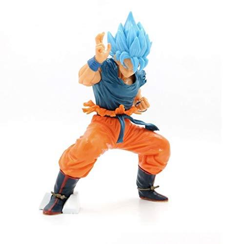 PY Dragon Ball Z: Super Saiyan Goku Azul (Batalla Postura) Figura de acción Modelo de Juguete de Regalo Decoración de Dragon Ball muñeca Colección estupenda