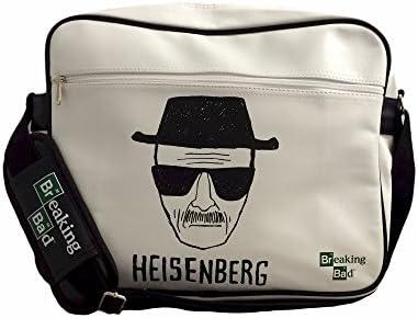 Breaking Bad Heisenberg Walter - Bandolera oficial (diseño de Heisenberg), color blanco