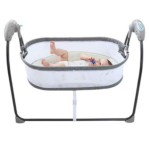 N / C Cuna eléctrica para bebé, Columpio automático con Caja de Columpio Musical automática, Cuna portátil automática para bebé, se Puede Utilizar Desde recién Nacidos