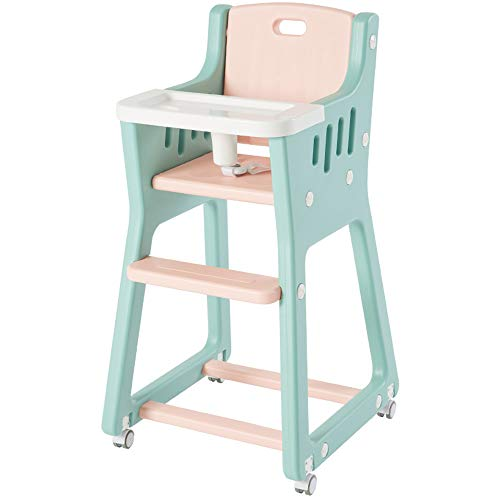ZCFXGHH Baby Effen Hout Eettafel, Baby Opvouwbare Hoge Stoel, Kinderen Multifunctionele Eettafel, Draagbare Kinderstoel