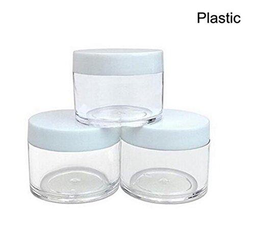 Botes de plástico rellenables de 30 g, 30 ml, redondos, transparentes con...