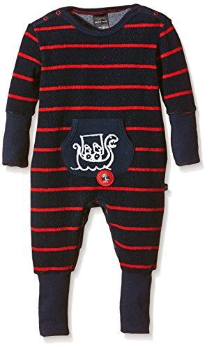 Schiesser Baby-Jungen Anzug mit Vario Zweiteiliger Schlafanzug, Blau (Nachtblau 804), 56 (Herstellergröße: 056)