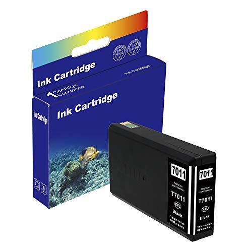 D&C Cartucce compatibili per Epson T7011-T7014 per WorkForce Pro WP-4015DN,WP- 4025DW,WP-4095DN,WP4515DN,WP-4525DNF,WP-4535 DWF,WP4545DTWF con chip 15ml Black