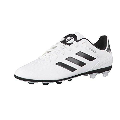adidas Unisex-Kinder Copa 18.4 FxG Fußballschuhe, Weiß (Footwear White/Core Black/Tactile Gold Metallic), 38 2/3 EU