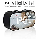 AMZLIFE Alarm Clock Radio with Wireless Bluetooth...