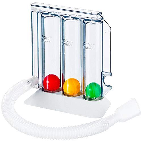Spezial Atemtrainer Tri Ball - Lungentrainer 3 Kammer Atemübungsgerät | mit E-Book für Atemübungen Therapie bei Atemwegsproblemen der Lunge und Bronchien | Logopädie Ergotherapie Lungetrainer