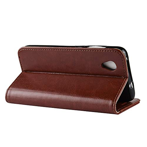 DAMAIJIA Funda Movil para Orange Rise 54 Carcasa Cuero PU Silicona Magnetic Wallet Protector Teléfono Flip Back Cover For Orange Rise54 Tapa Accesorio con Soporte (Brown)