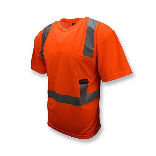Radians ST11-2POS-XL Industrial Safety Shirt Short Sleeve, Orange, X-Large
